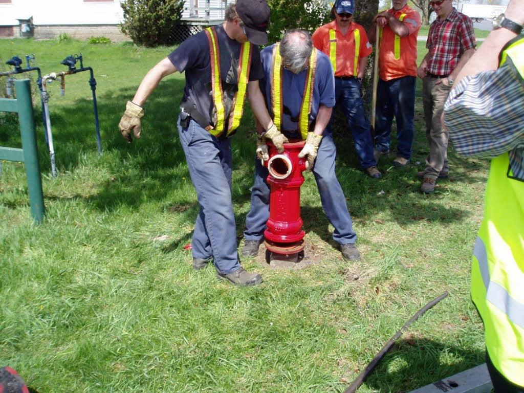 Formation à la restauration de bornes d'incendie